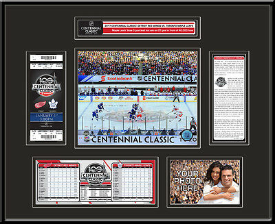 2017 NHL Centennial Classic Ticket Frame - Red Wings vs Maple Leafs