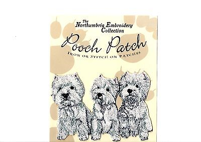West Highland White  EMBROIDERED  Pooch Patch