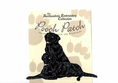 Flatcoat Retrievers  EMBROIDERED  Pooch Patch