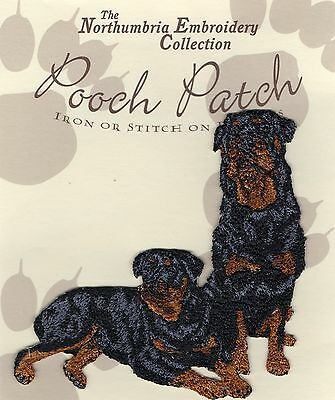 Rottweiler  EMBROIDERED  Pooch Patch