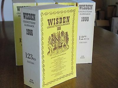 SPECIAL OFFER:Wisden Cricketers' Almanack 1986 Linen Covers FINE condition
