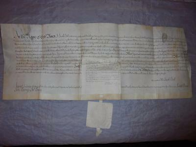 1750 Manuscript Vellum Indenture Will Document, Jacob Bell,bricklayer,norwich #1