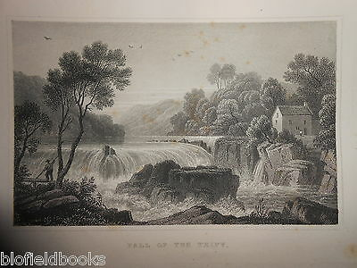 Fall of the Teify (Cardiganshire/Taff) 1853 Antiquarian Welsh/Wales Engraving