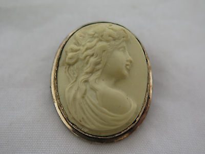 Antique Porcelain Cameo in a Vermeil Frame