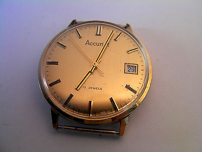 Accurist Men's Watch - Spares or Repair - Needs a Stem AS 96-4
