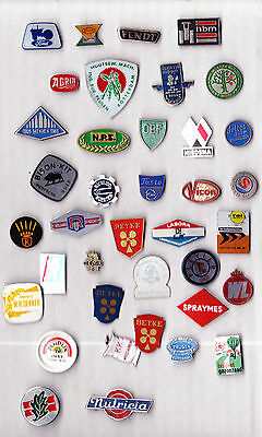 JOB LOT COLLECTION Vtg tractor pin badges FORD AGRIA FENDT MENKEN MBN VICON TOOL