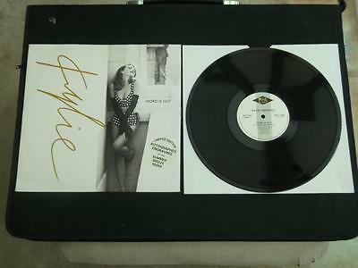 "Kylie Minogue Word Is Out 1991 Uk Ltd Edition Autographed 12"" Vinyl Record"