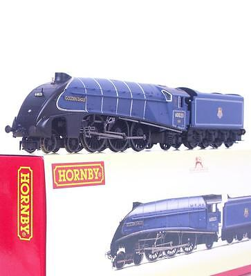 "Superb Hornby Oo R3320 - Br Blue Class A4 Pacific 60023 ""golden Eagle"" Dcc Ready"