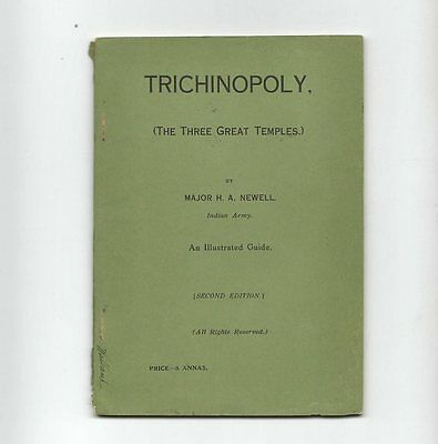 """""""TRICHINOPOLY"""" (INDIA) """"THE 3 GREAT TEMPLES""""  by MAJOR  H. A.  NEWELL  1920's"""