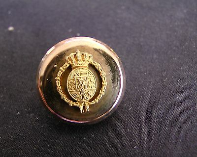 c. 1900 ALPHONSO XIII ROYAL COURT OF SPAIN MOUNTED CUFF BUTTON A.M & Cie rmdc