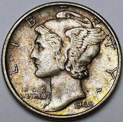 1945 Mercury Dime - 10 Cents - Great Condition - Free Combined S/H