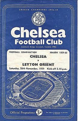 Chelsea Reserves v Leyton Orient Reserves 1959/60 - 4 Page