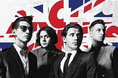 ARCTIC MONKEYS ~ UNION JACK GROUP 24x36 MUSIC POSTER NEW/ROLLED!