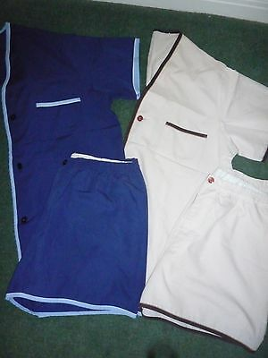 2 x Mens Cotton Pyjama Shorts Set Size Large