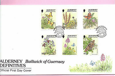 ALDERNEY 1994  FDC - FLORA & FAUNA Definitives  (6 values to 40p) - Shs ALDERNEY