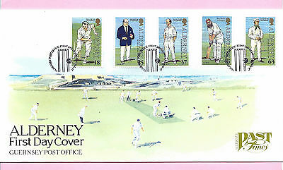 ALDERNEY 1997 FDC - PAST TIMES - CRICKET CLUB - Shs ALDERNEY