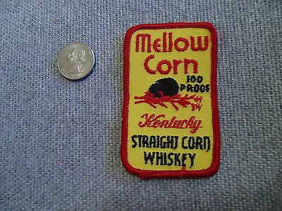 Vintage Mellow Corn 100 Proof Kentucky Straight Burbon Whiskey Patch NOS