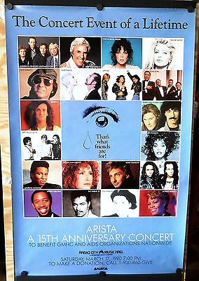 Whitney Houston Eurythmics Dion Yes - Thats What Friends Are For Concert Poster