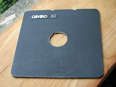 Cambo SC Monorail 10x8 5x4 lens board copal compur 0 ,  34.7mm hole used