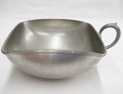 Royal Holland Pewter KMD Small Square Bowl with Handle Open Sugar or Snacks