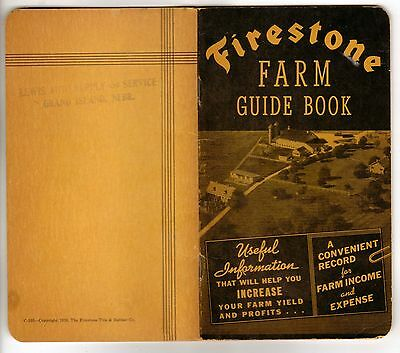 Vintage Firestone Farm Guide Book 1939 Very Rare