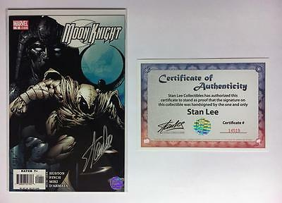 Moon Knight #1 Signed Stan Lee W/coa Variant David Finch Art 1St Print Exclusive
