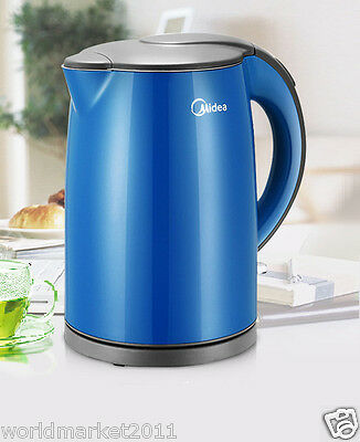 High-Grade Stainless Steel Capacity 1.7L Kitchen Electric Kettle Blue