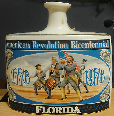 Early Times Whiskey Vintage Decanter Bottle~ Bicentennial Of Revolution~ Florida