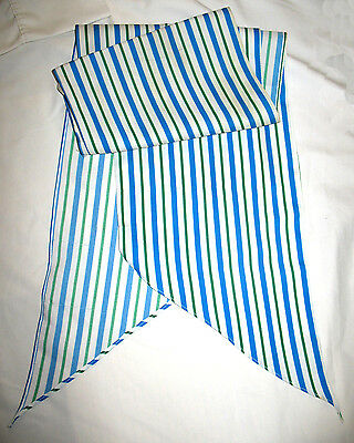Adult Girl Scout SCARF Oblong Stripes 1980s, Convention Wear w/NAVY Blue EUC