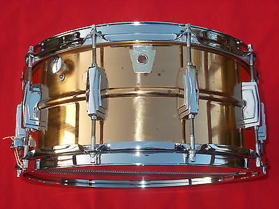 Vintage 1980s Ludwig 6.5x14 Bronze Supraphonic Snare Drum Made In Chicago Rare