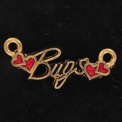 CHARM Bugs Bunny WARNER BROS LOONEY TUNES Gold RED HEART NAME WB STORE 4499
