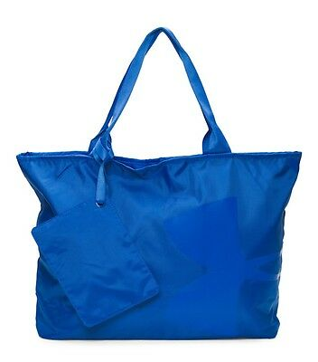 NWT Under Armour Women's Big Logo Printed Tote Gym Carry Bag Ultra Blue + Pouch