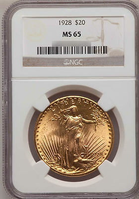 $20 Saint-Gaudens NGC MS65 pre-1933 US Gold Double Eagle - FREE shipping