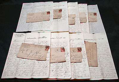OPC 1884-5 9 Letters Between Merchant Brothers W & DL Ross Ind to Charleston SC