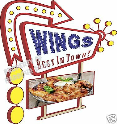 "Wings 14"" DECAL Hot Buffalo Concession Food Truck Trailer Vinyl Sticker Sign"