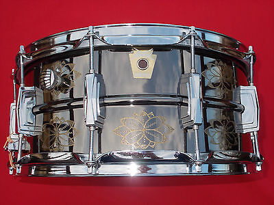 1991 Ludwig Limited Edition 6.5x14 Engraved Black Beauty Snare Drum