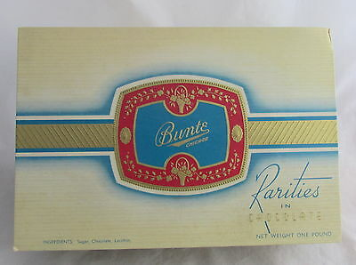 Vintage Advertising Bunte Chicago Chocolate Paper Candy Box WWII Buy Bonds