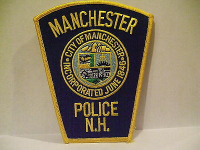 police patch  MANCHESTER POLICE NEW HAMPSHIRE