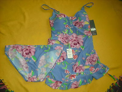 Womens Oh Baby By Motherhood NWT 2 pc Swimsuit Swim Suit Size XL Extra Large