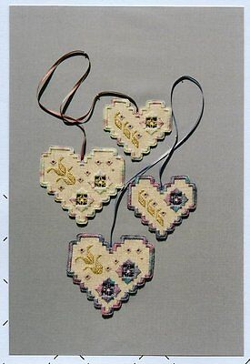 Sew Fun Heart Charms Hardanger Pattern by Sara Lee J. Allen