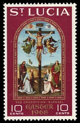 "ST. LUCIA 231 (SG245) - Easter ""The Crucifixion"" by Raphael (pa28182)"