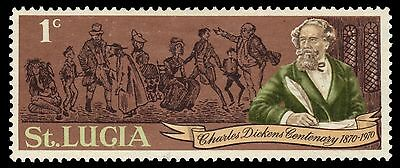 "ST. LUCIA 278 (SG293) - Charles Dickens ""Novelist"" Death Centenary (pa28201)"