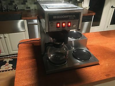 Bloomfield Koffee King Commercial 3 Decanter Coffee Maker Stainless Steel Nice!