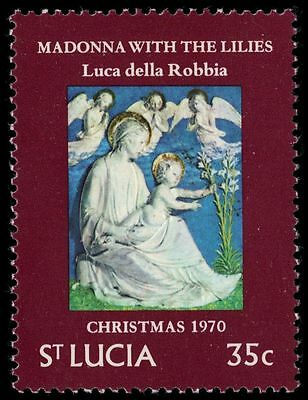 "ST. LUCIA 288 (SG303) - Christmas ""Madonna with the Lilies"" (pa28205)"