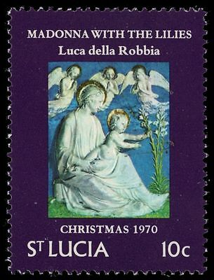 "ST. LUCIA 287 (SG302) - Christmas ""Madonna with the Lilies"" (pa28204)"