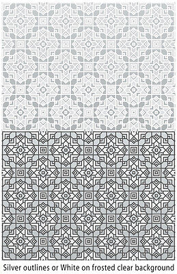 Stained Glass Window Cling - QUILTED FROST