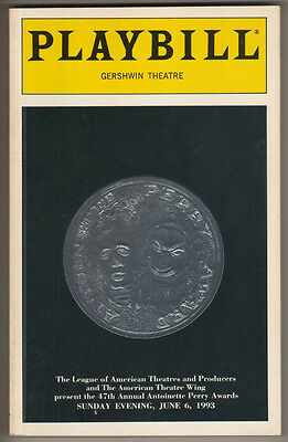 Tony Awards Playbill 1993 194 Pages- Hosted by Liza Minnelli