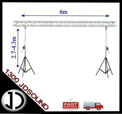 6m x 4m 290mm box truss Truss stand - Heavy duty winch up lighting truss NEW