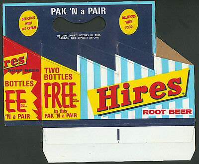 Hires Root Beer Pak 'N a Pair 8-pack carton 1963