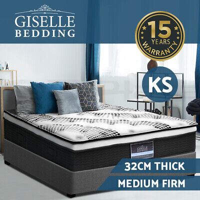 NEW Mattress King Single Size Euro Top 5 Zone Pocket Spring High Resilience Foam